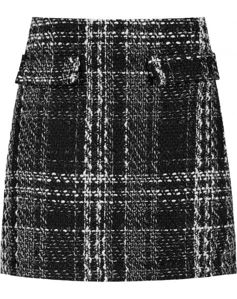 BELLA TWEED SKIRT BLACK