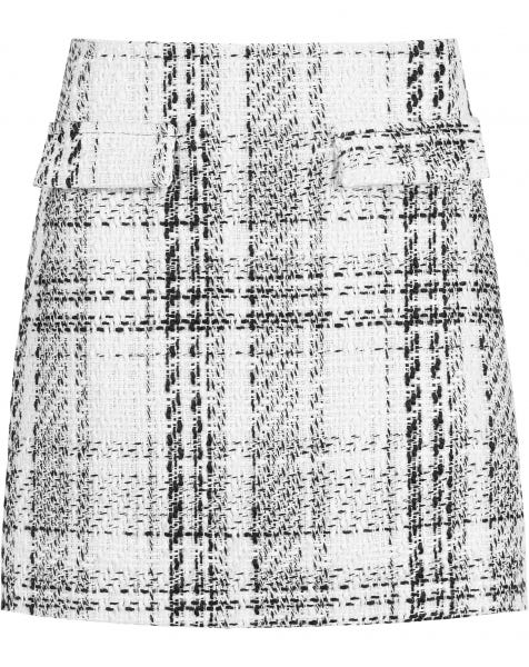 BELLA TWEED SKIRT WHITE