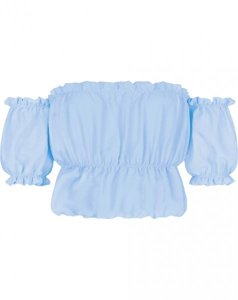 ROSE FRILL TOP BABYBLUE