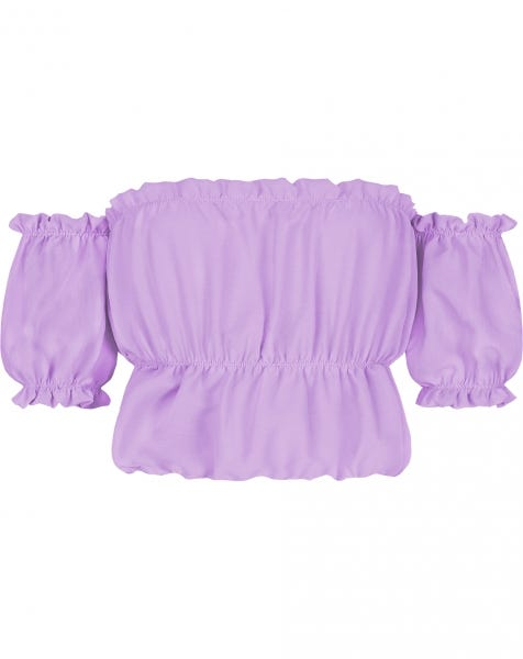 ROSE FRILL TOP LILA