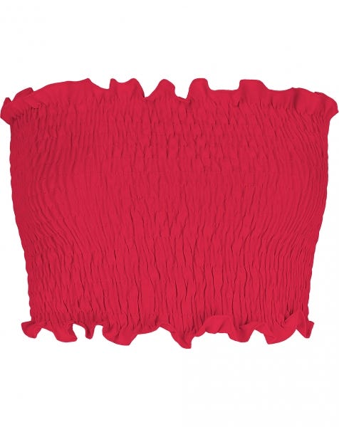 BANDEAU SMOCK TOP RED