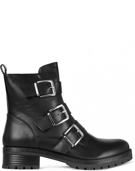 DAISY BUCKLE BOOTS BLACK