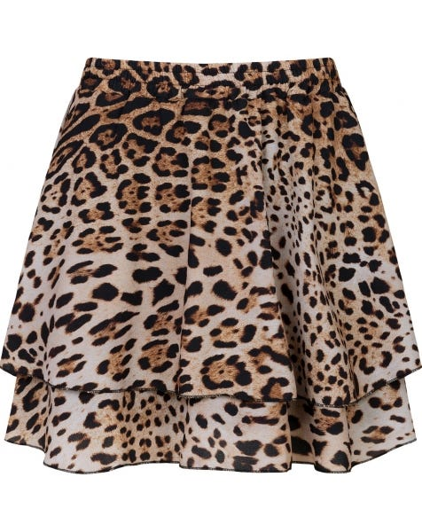 KYLIE LEO SKIRT BROWN