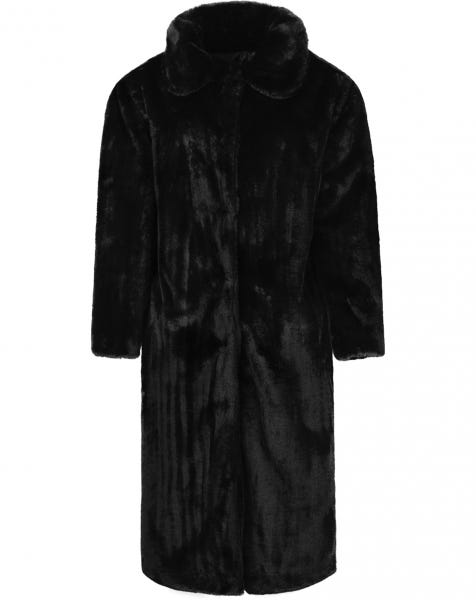 LOLA LONG FUR COAT BLACK
