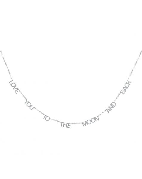 LOVE YOU TO THE MOON AND BACK NECKLACE SILVER