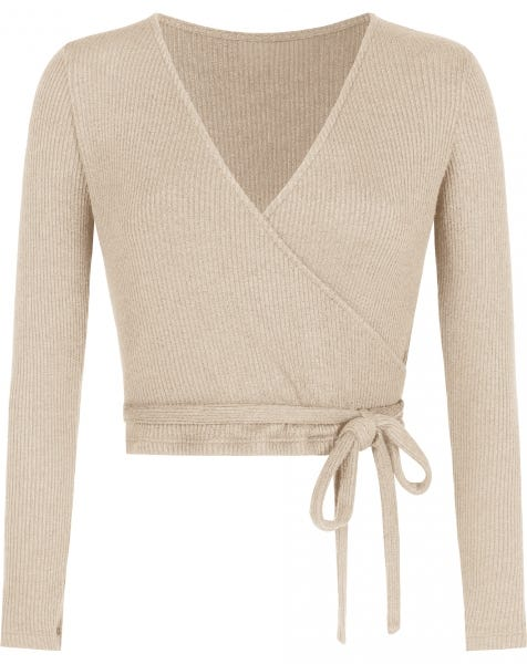 GRACE WRAP TOP BEIGE