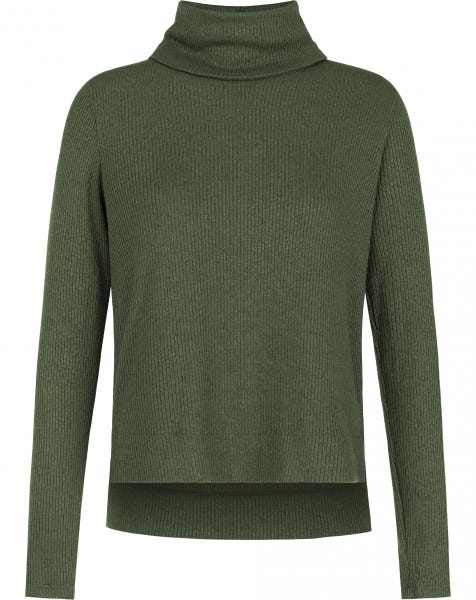 GRACE COL KNIT ARMY