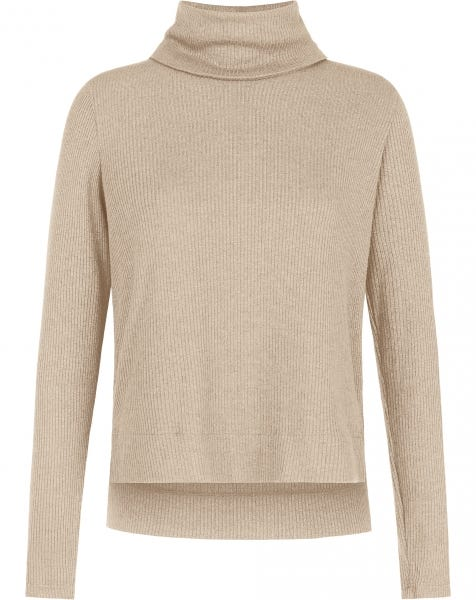 GRACE COL KNIT BEIGE