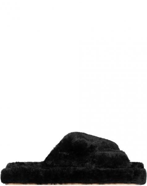 FURRY SLIPPER BLACK