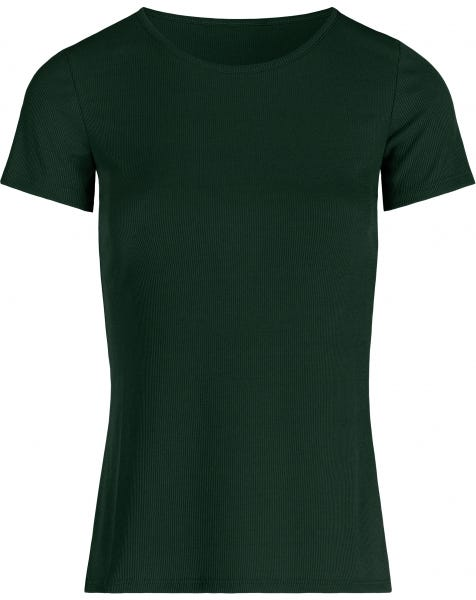 MW RIBBED TOP EMERALD GREEN