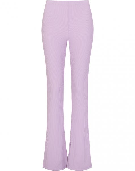 STRIPED FLARED PANTS LILA