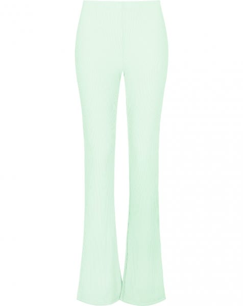 STRIPED FLARED PANTS MINT