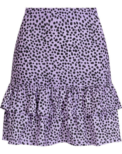 SHORT RUFFLE SKIRT CHEETA