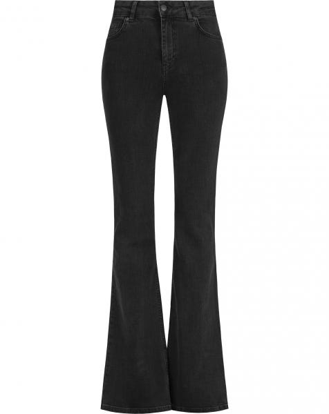 MW DENIM FLARED JEANS BLACK