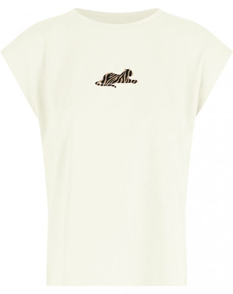 TIGER CAP SLEEVE TEE CREAM