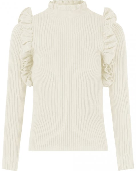 RUFFLE KNIT CREAM
