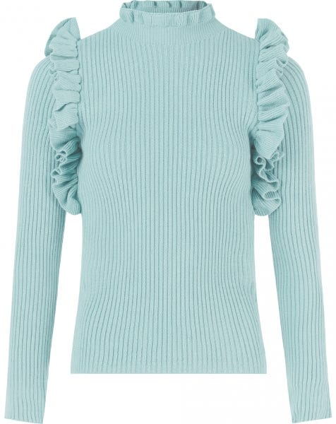 RUFFLE KNIT LIGHT BLUE
