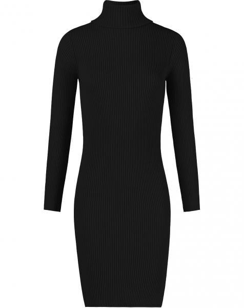 COL SLIT DRESS BLACK