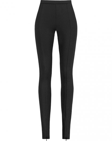 RIBBED ZIPPER LEGGING BLACK