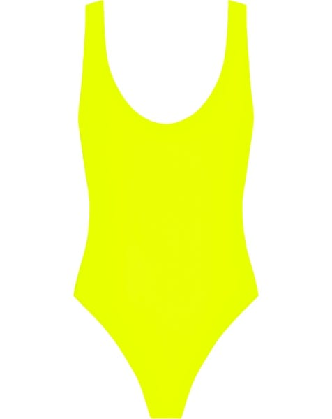 NEON SWIMSUIT YELLOW