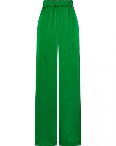 CLAIRE SATIN PANTS GREEN