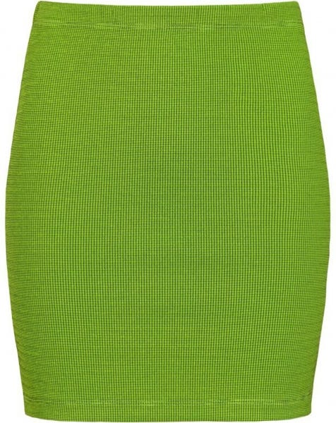 PIED DE POULE SKIRT LIME