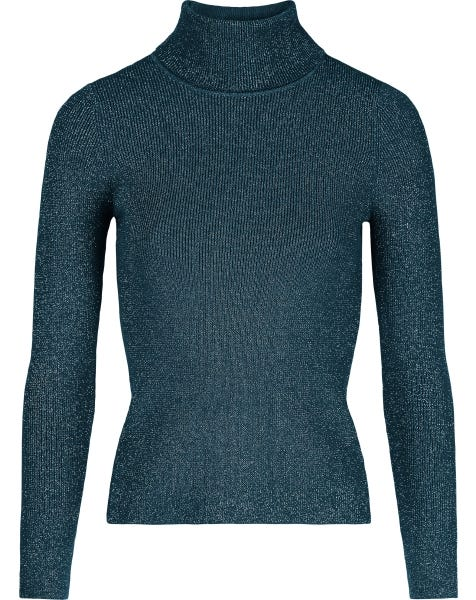 LUREX COL KNIT BLUE