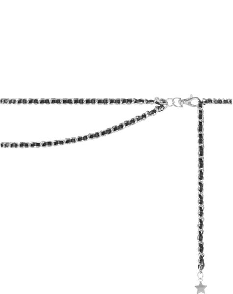 SOPHISTICATED LAYER CHAIN BELT SILVER