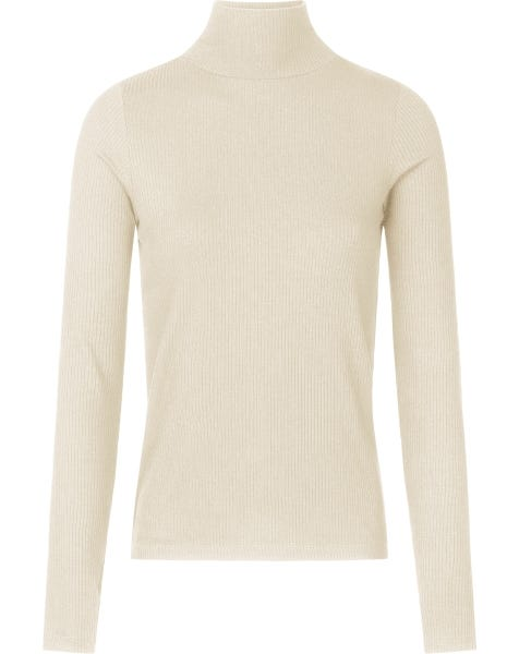 SOFT RIBBED COL TOP SAND