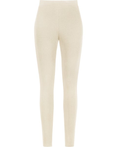 SOFT RIBBED LEGGING SAND