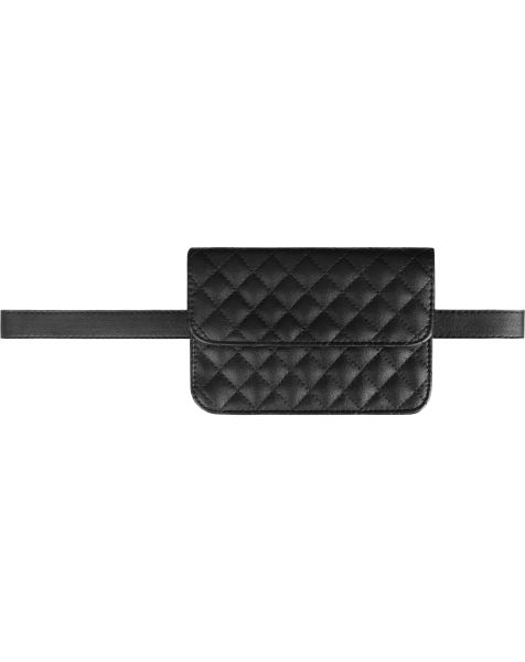 STITCHES BELT BAG BLACK