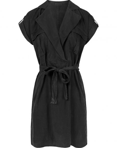 VERA SHIRT DRESS BLACK