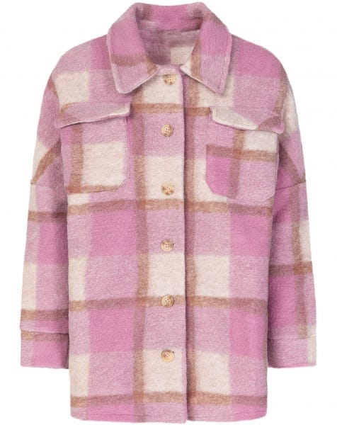 CHECK JACKET OLD PINK