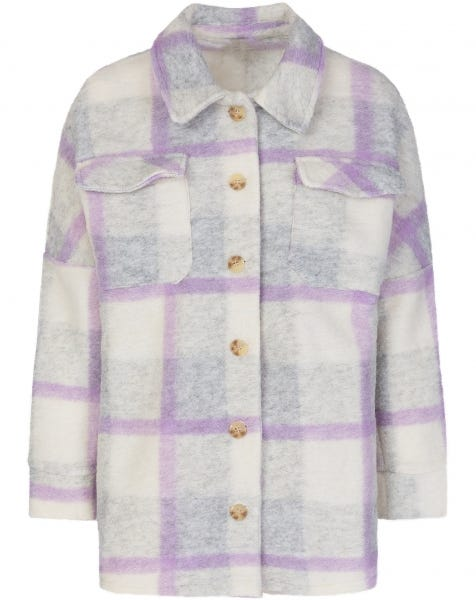 PASTEL CHECK JACKET LILA GREY
