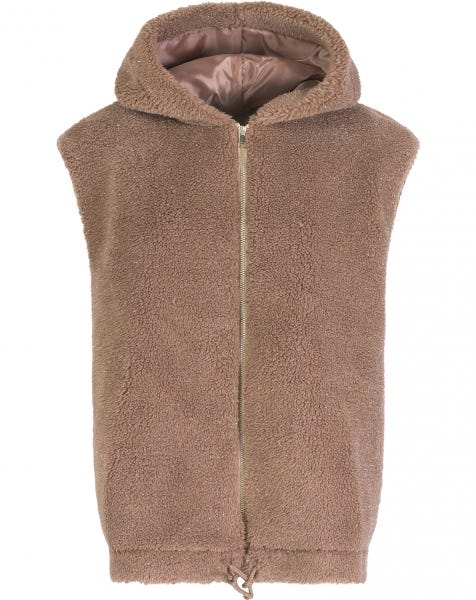 GLITTER BODY WARMER CAMEL