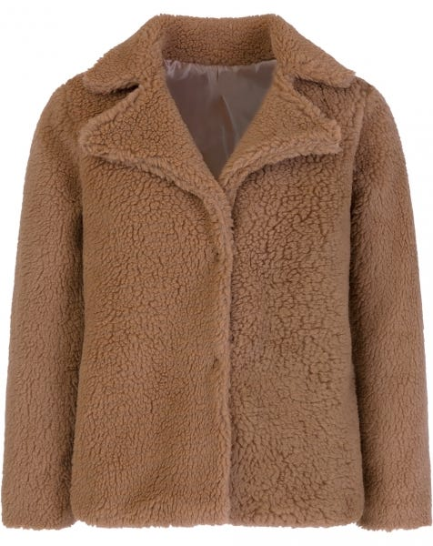 SHORT TEDDY JACKET CAMEL