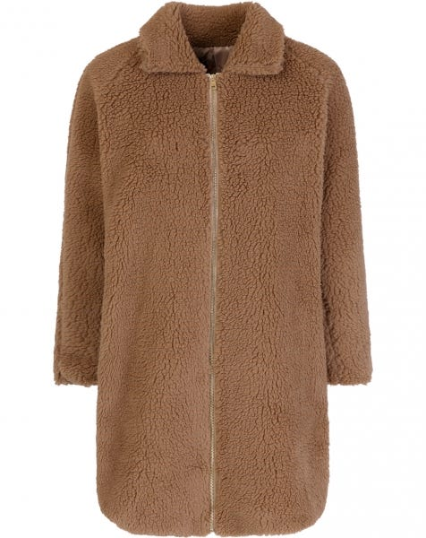 LONG TEDDY JACKET CAMEL