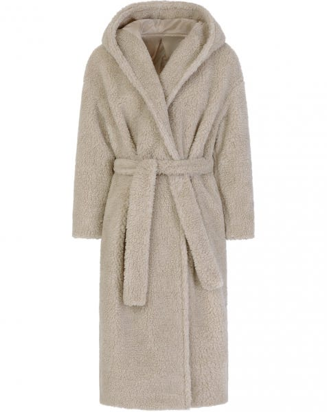 JOSIE TEDDY COAT SAND
