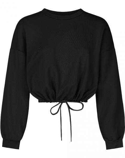 JUNE TIE SWEAT BLACK