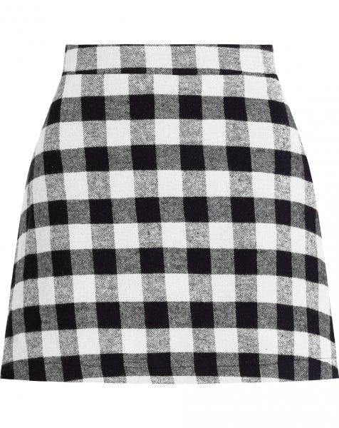 GWEN CHECK SKIRT WHITE
